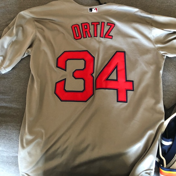 sale retailer 1d0b7 ad9a6 David Ortiz Jersey Authentic